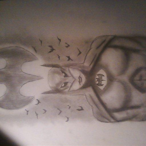 drawing of batmannnn