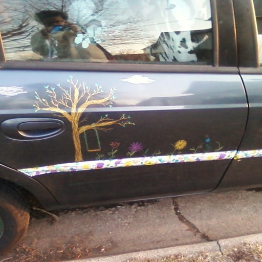 My car mural I'm doing with sharpie!
