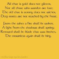 gold tolkien