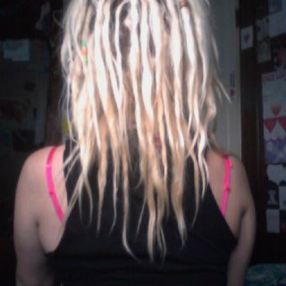 Dread progress, going on 4 months (: I love my babies.
