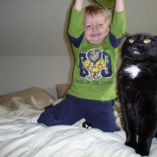 Everett and Hollie (ze cat)