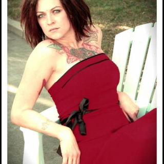I took a bunch of old time photos for my blog and took a break and snagged this one with my photographer :)