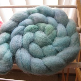 excited to spin them up :)  used PAAS egg dyes