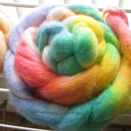 dyed wool rovings