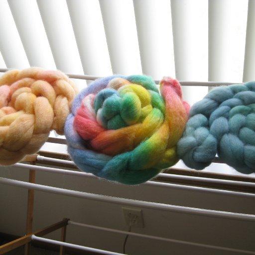 dyed wool rovings