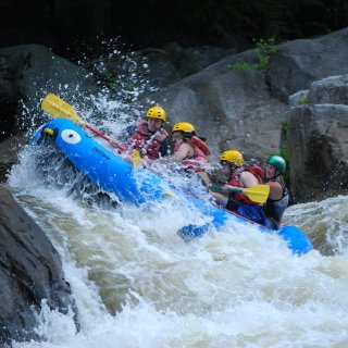 My first time rafting was on class 4 and 5 rapids