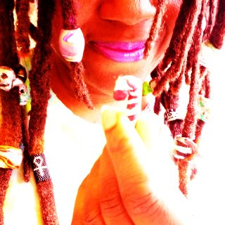 dread beads and fun polymer clay charms