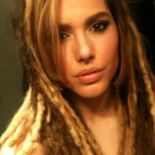 Extensions on my TNR dreads. I even straightened my bangs. What was I thinking :( ehh.