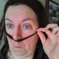Do you like my mustache? (said in sinister English accent)