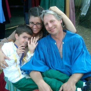 Greg, Devlin and I at the Renaissance Faire 2011