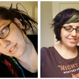 This is just to show some of my old extensions compared to my hair at that time.