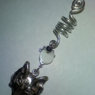 wolf moon dread beard braid charm