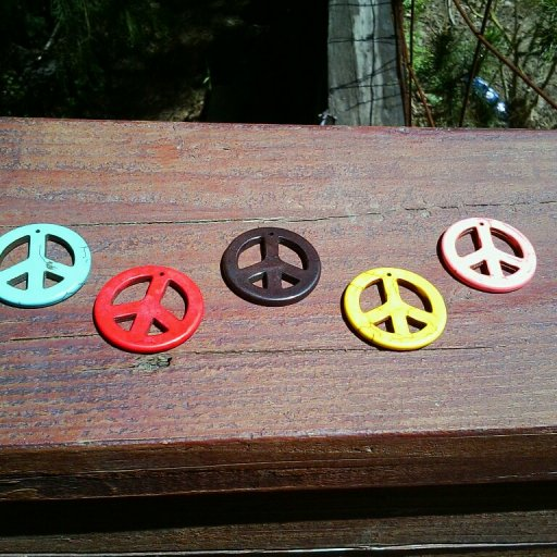 Clay Peace Signs