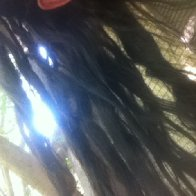 How my hair is separating itself.