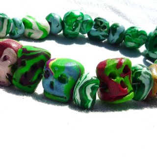 handmade polymer clay jewelry and dreadlock beads