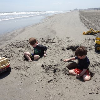 my nephews decided to dig personal swimming pools rather then swim in the ocean they dug holes and waited for the ocean to fill them up