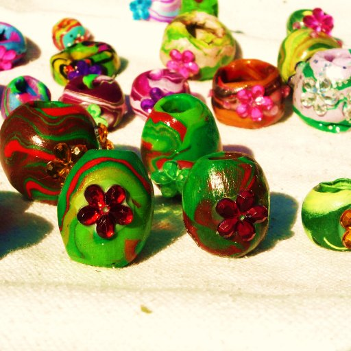 New Dread Beads Drying In The Sun
