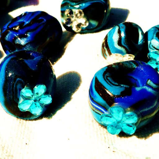 New Dreadlock Beads Drying In The Sun
