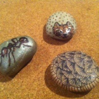 my rock art ant totem fox and fan