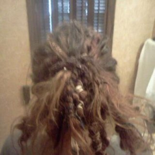 my crazy hair 6 mon.