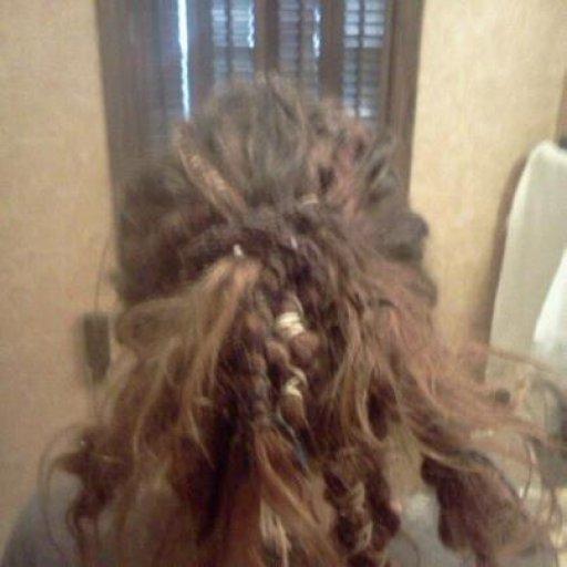 my crazy hair 6 mon.