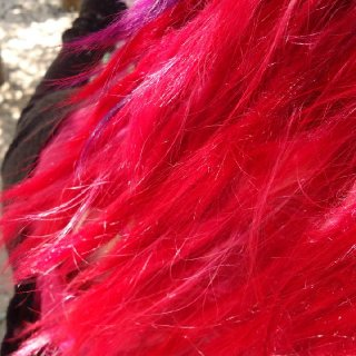 The dye was so bright, and they didn't even look like dreads!