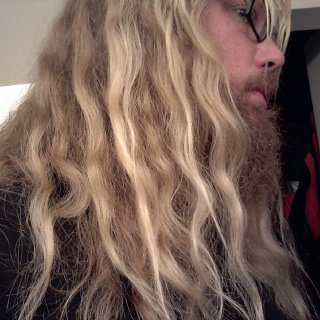 Only 3 hours after taking a shower with no conditioner, not brushing and allowing my hair to drip dry. You can already see what pieces are going to want to turn into dreads.