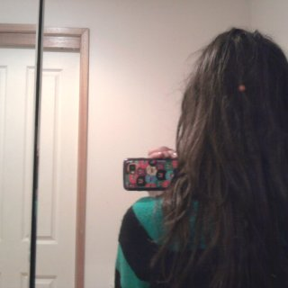 I CANNOT take photos of my hair :P