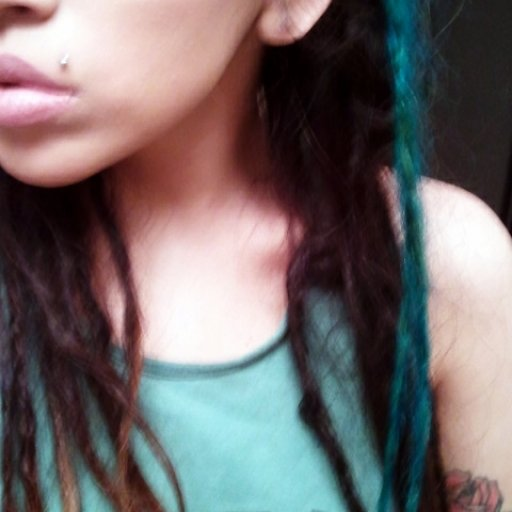 I look about 12 here but just showing you 2 dreads I dyed turquoise.