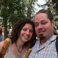 My Hubby and I @ Renn Faire. Dreads 7 Mo. Old