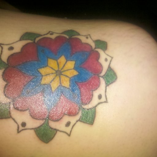 Added color to existing tattoo