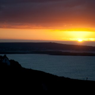 sunset over inis maan