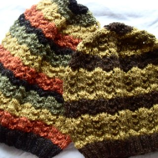 """Unity"" and ""Honey Bee"" ... my rasta hats always sell out so fast, it's hard to keep up... I'm a slow knitter."