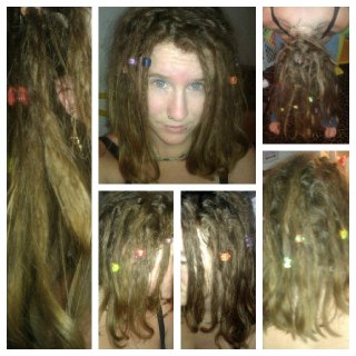 Lots of strays, my baby dreads have come half undone, and the hairs underneath by my neck are all normal hair again. Eventually they will all lock up happily though (: