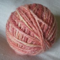 First hand dyed yarn