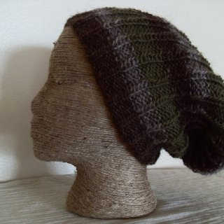 This slouchy features a new pattern and design and it's REVERSIBLE... that's like getting 2 hats! You choose 3 colors to have your custom tam made to be unique and one of a kind.  https://www.etsy.com/listing/110181375/you-choose-reversible-beanie-slouchy