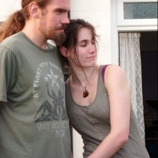 John and myself renewing your hand fasting after a year and a day (2 months before we started dreding)