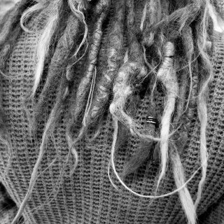 dreads black and white