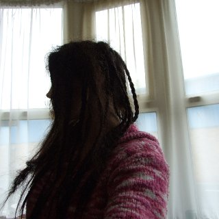 Right side. Plaits ready to be back combed