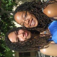 My girls making waves with their locs.