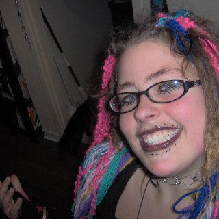I wrapped yarn around my dreads and went as a gothic rag doll for halloween!