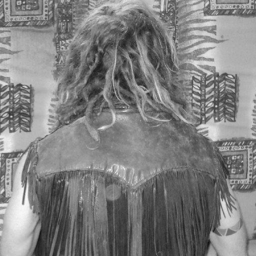 dreads and vest