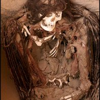 dreadlocked chauchilla mummy