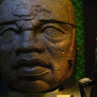 Me and an Olmec San Lorenzo Colossal Head