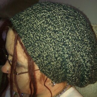 another cool hat i made from an ugly old sweater