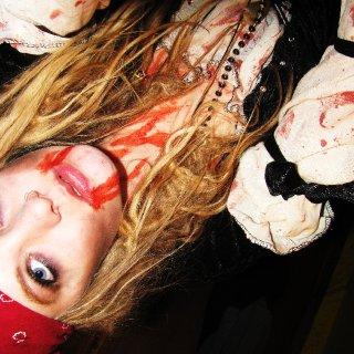 sweet shot of the fake blood.