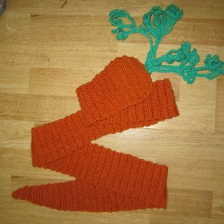 while procrastinating I made a carrot scarf!