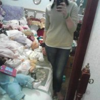Room full of creepy dolls : o