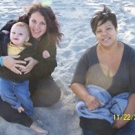 with my mom and my little man