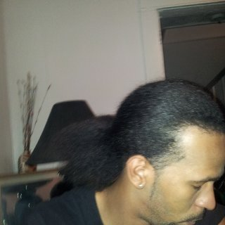 About to start locs already decent length had cornrows